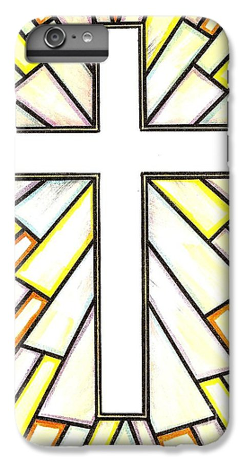 Cross IPhone 6 Plus Case featuring the painting Easter Cross 3 by Jim Harris