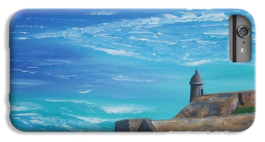 El Morro Ii IPhone 6 Plus Case featuring the painting El Morro II by Tony Rodriguez