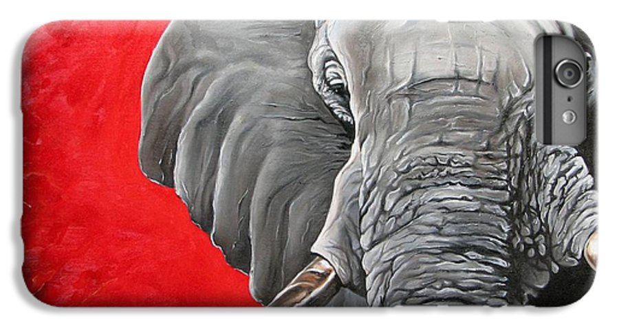 Wildlife IPhone 6 Plus Case featuring the painting Elephant by Ilse Kleyn