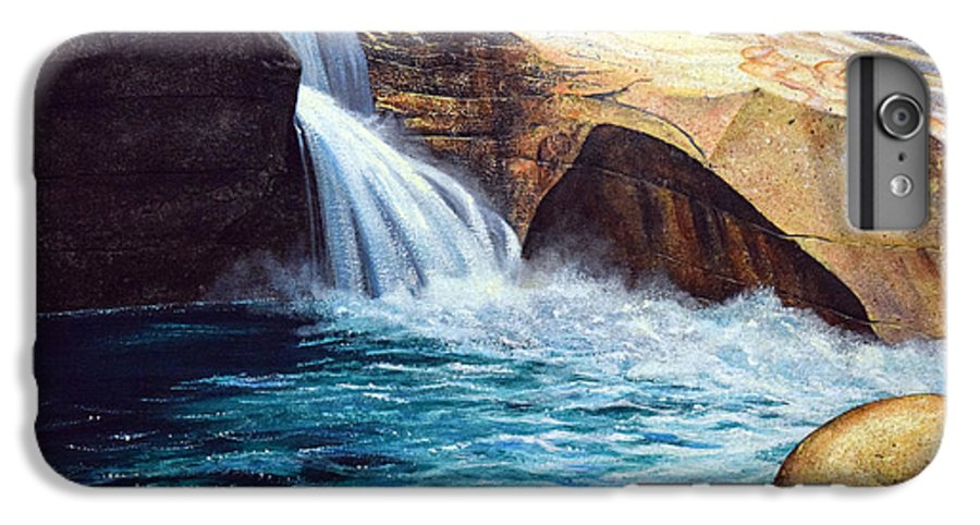 Emerald Pool IPhone 6 Plus Case featuring the painting Emerald Pool by Frank Wilson