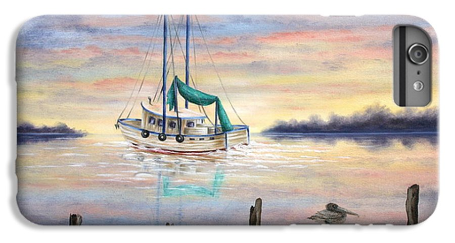 Seascape IPhone 6 Plus Case featuring the painting End Of The Day by Ruth Bares