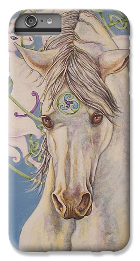 Celtic IPhone 6 Plus Case featuring the painting Epona The Great Mare by Beth Clark-McDonal