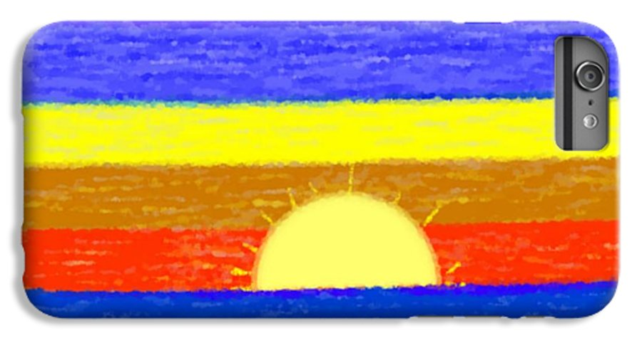 Evening.sky.stars.colors.violet.blue.orange.yellow.red.sea.sunset.sun.sunrays.reflrction. Ater. IPhone 6 Plus Case featuring the digital art Evening Colors by Dr Loifer Vladimir