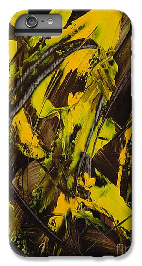 Abstract IPhone 6 Plus Case featuring the painting Expectations Yellow by Dean Triolo