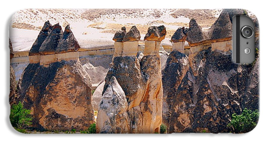Landscape IPhone 6 Plus Case featuring the photograph Fairy Chimney Panorama by Apurva Madia