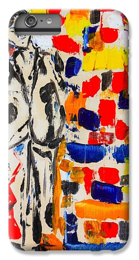 Oil IPhone 6 Plus Case featuring the painting Father And Daughter by Roger Cummiskey