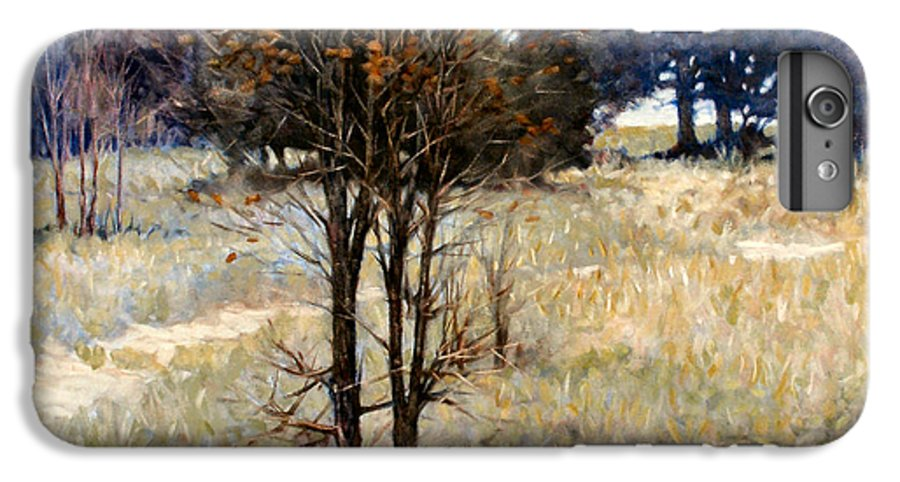 Landscape IPhone 6 Plus Case featuring the painting Feathery Field by Kevin Lawrence Leveque