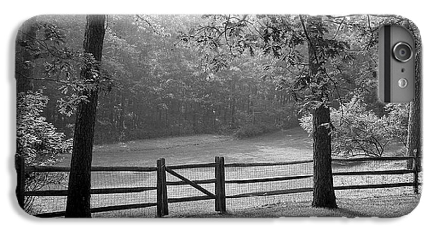 Black & White IPhone 6 Plus Case featuring the photograph Fence by Tony Cordoza