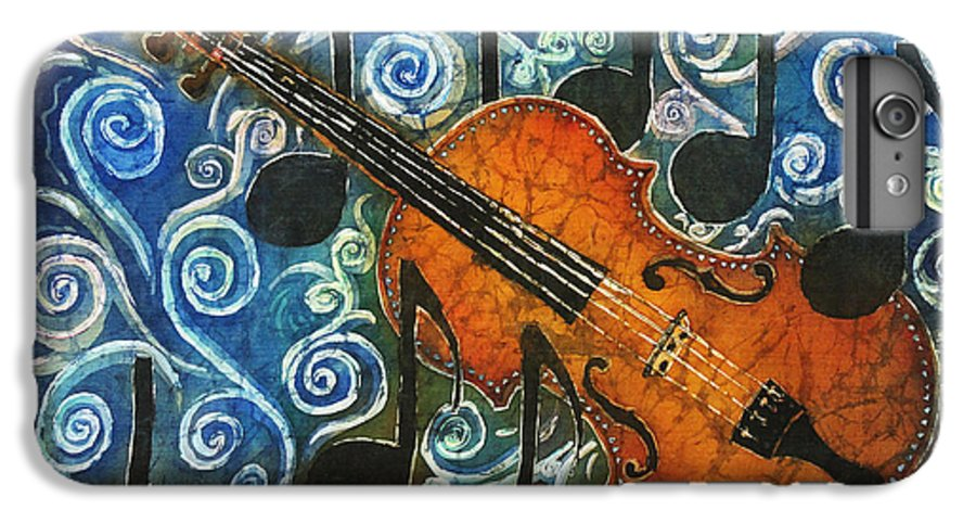 Fiddle IPhone 6 Plus Case featuring the painting Fiddle 1 by Sue Duda