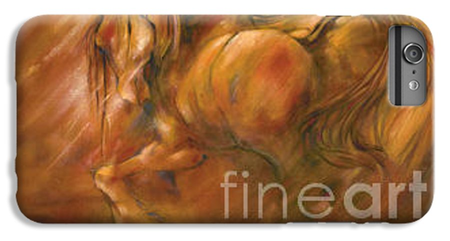 Horse IPhone 6 Plus Case featuring the painting Fire by Wendy Froshay