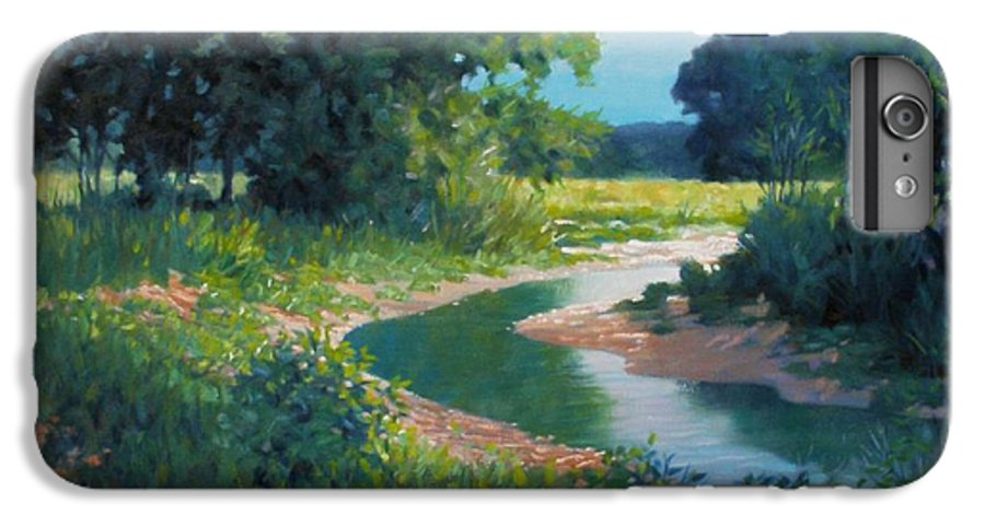 Landscape IPhone 6 Plus Case featuring the painting First Light by Kevin Lawrence Leveque