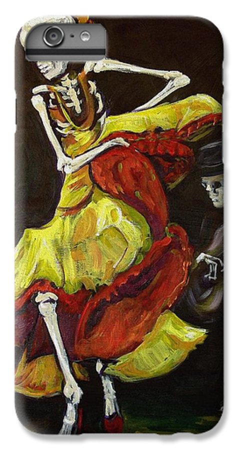 Muertos IPhone 6 Plus Case featuring the painting Flamenco Vi by Sharon Sieben