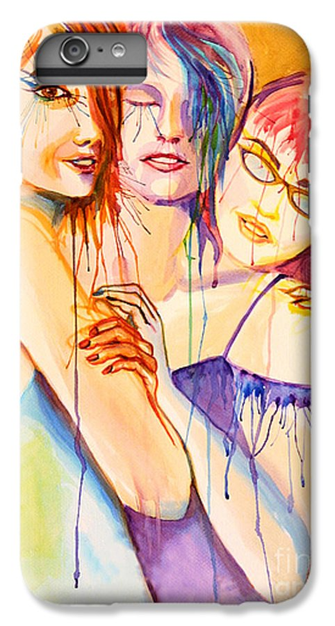 Portraits IPhone 6 Plus Case featuring the painting Flawless by Angelique Bowman