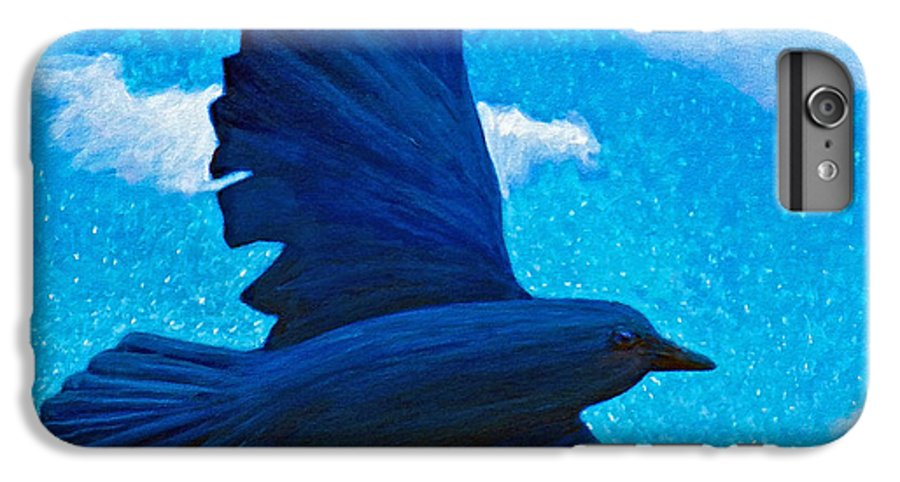 Raven IPhone 6 Plus Case featuring the painting Flight by Brian Commerford