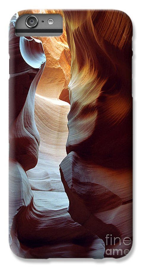 Slot Canyon IPhone 6 Plus Case featuring the photograph Follow The Light II by Kathy McClure