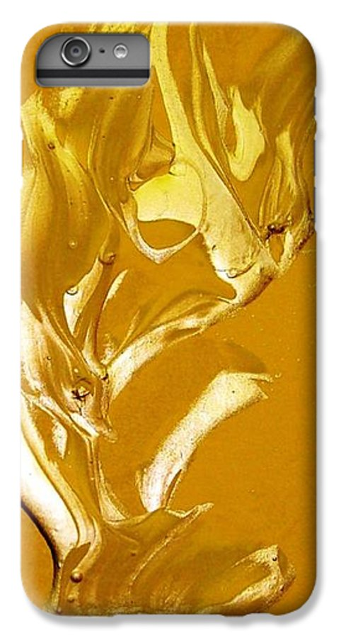 Gold IPhone 6 Plus Case featuring the painting For Love  For All by Bruce Combs - REACH BEYOND