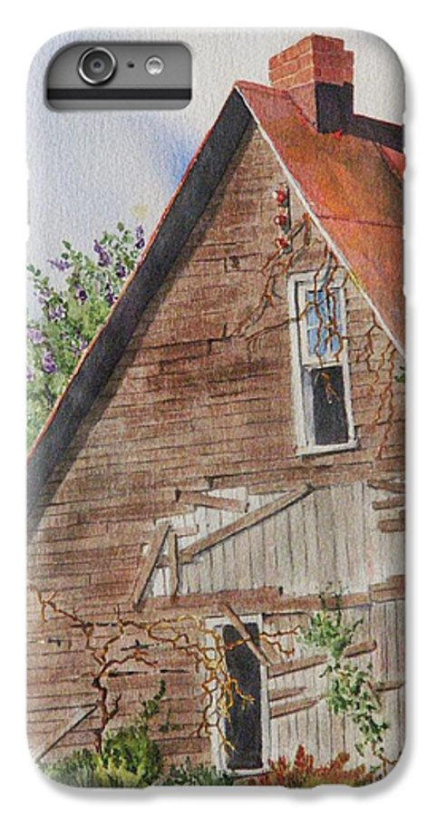Farm IPhone 6 Plus Case featuring the painting Forgotten Dreams Of Old by Mary Ellen Mueller Legault