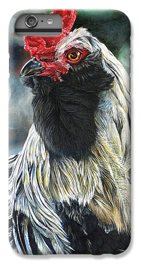 Fowl IPhone 6 Plus Case featuring the painting Fowl Martyr by Cara Bevan