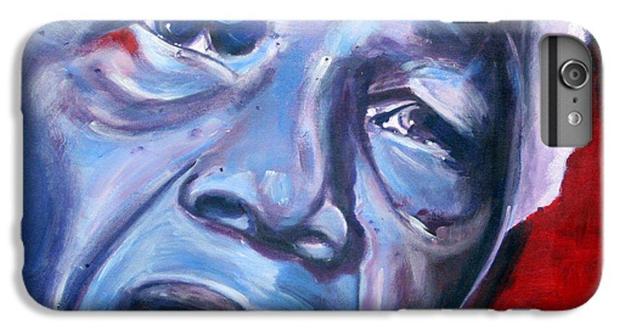 Nelso Mandela IPhone 6 Plus Case featuring the painting Freedom - Nelson Mandela by Fiona Jack