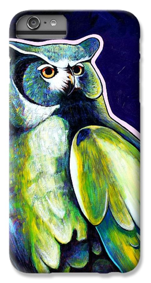 Owl IPhone 6 Plus Case featuring the painting From The Shadows by Joe Triano