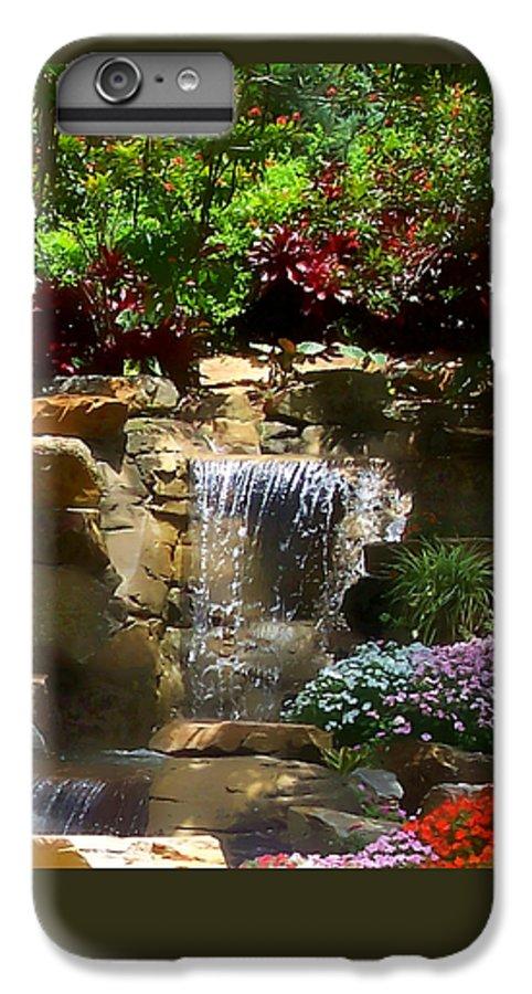 Garden IPhone 6 Plus Case featuring the photograph Garden Waterfalls by Pharris Art