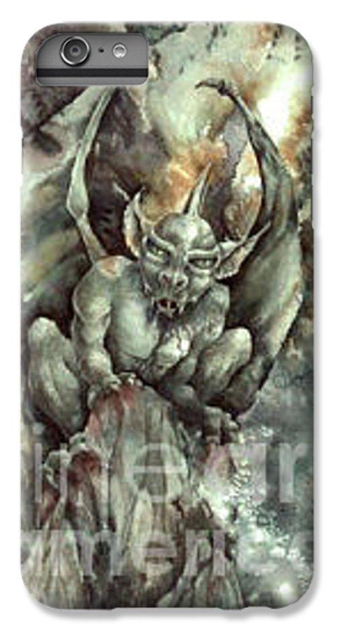Gargoyle IPhone 6 Plus Case featuring the painting Gargoyle by Wendy Froshay