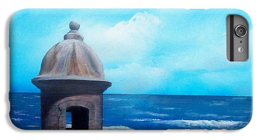 Garrita Del Diablo IPhone 6 Plus Case featuring the painting Garrita Del Diablo by Tony Rodriguez