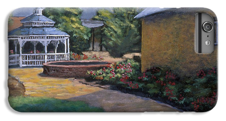 Potter IPhone 6 Plus Case featuring the painting Gazebo In Potter Nebraska by Jerry McElroy