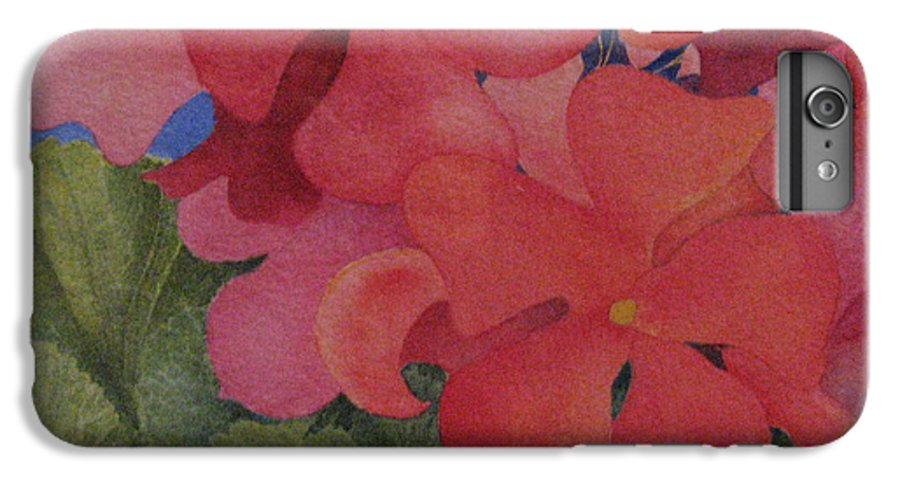 Florals IPhone 6 Plus Case featuring the painting Generium by Mary Ellen Mueller Legault