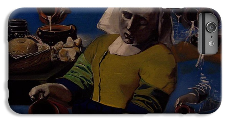 IPhone 6 Plus Case featuring the painting Geological Milk Maid Anthropomorphasized by Jude Darrien