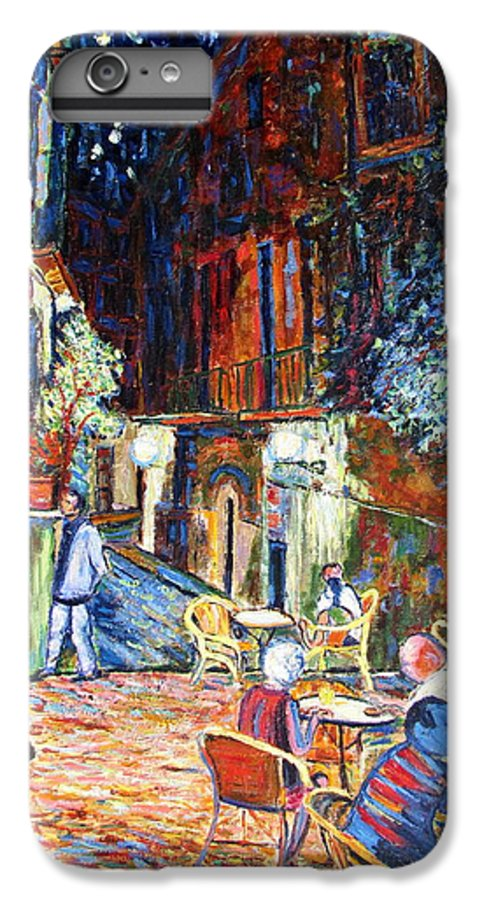 Impressionsist Spain Cafe Night Stars Van Gogh IPhone 6 Plus Case featuring the painting Gerona by Rob White