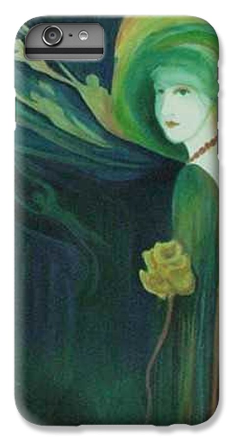 Women IPhone 6 Plus Case featuring the painting My Haunted Past by Carolyn LeGrand