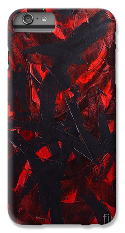 Abstract IPhone 6 Plus Case featuring the painting Good Bye by Dean Triolo
