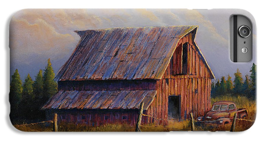Barn IPhone 6 Plus Case featuring the painting Grandpas Truck by Jerry McElroy