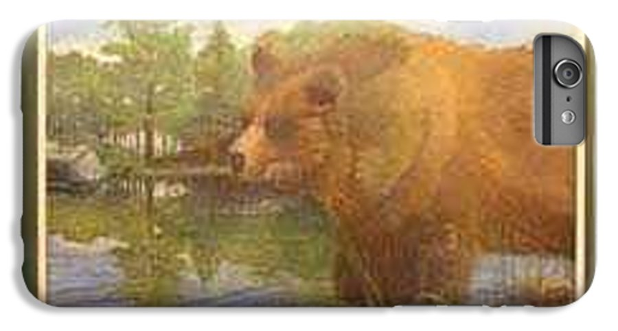 Rick Huotari IPhone 6 Plus Case featuring the painting Grizzly by Rick Huotari