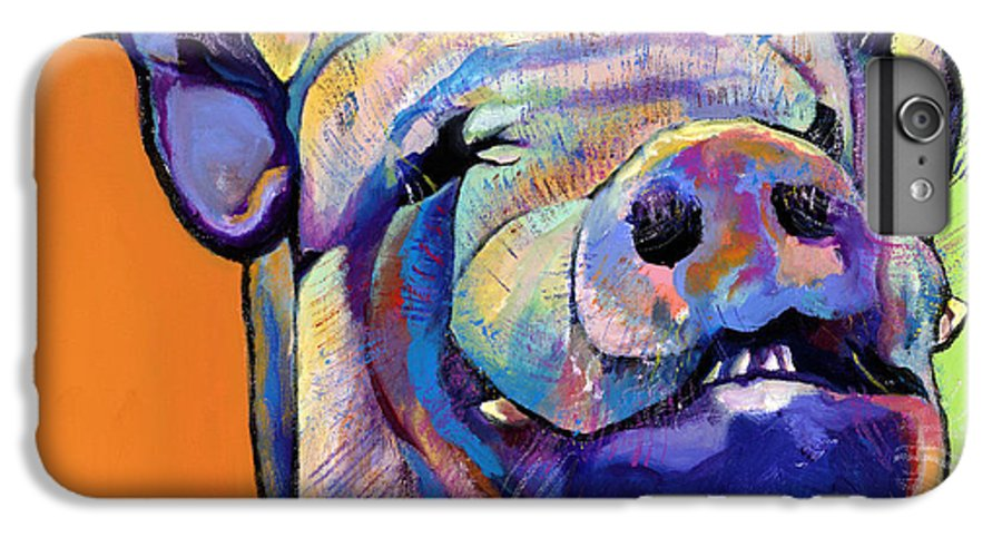 Pat Saunders-white Canvas Prints IPhone 6 Plus Case featuring the painting Grunt  by Pat Saunders-White