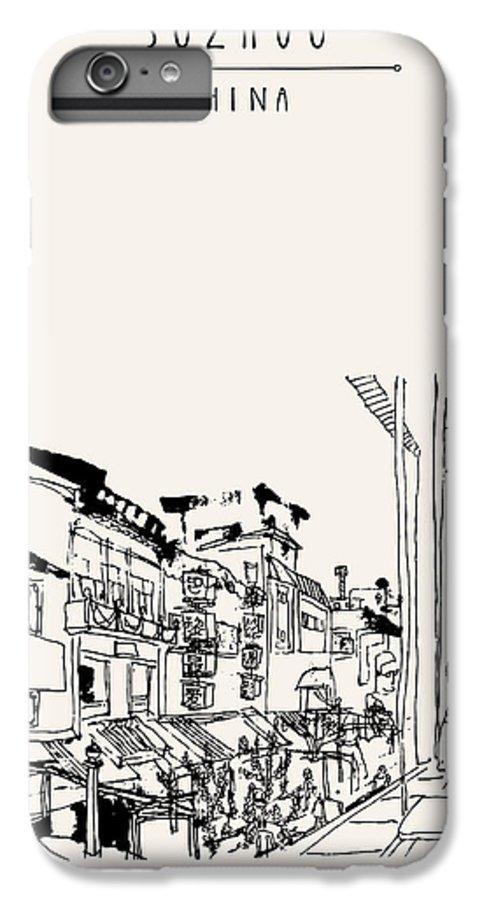 Scenic IPhone 6 Plus Case featuring the digital art Guanqian Street In Suzhou, Jiangsu by Babayuka