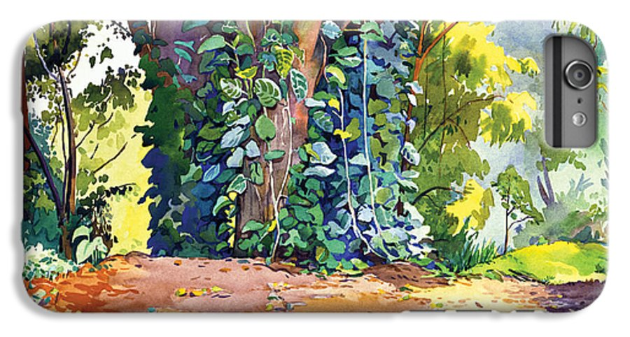 Don Jusko IPhone 6 Plus Case featuring the painting Hana Ivy/vine Tree by Don Jusko