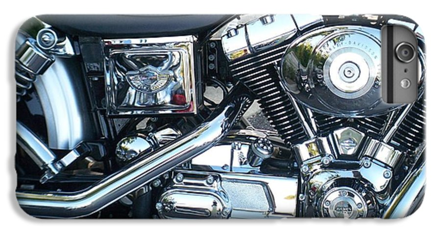 Motorcycles IPhone 6 Plus Case featuring the photograph Harley Black And Silver Sideview by Anita Burgermeister