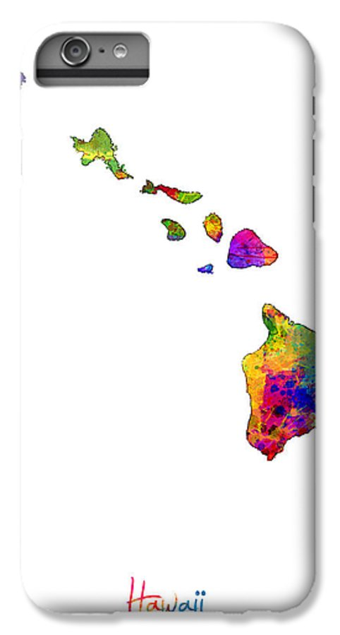 Hawaii Map IPhone 6 Plus Case for Sale by Michael Tompsett