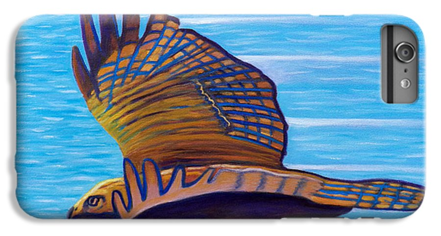 Hawk IPhone 6 Plus Case featuring the painting Hawk Speed by Brian Commerford