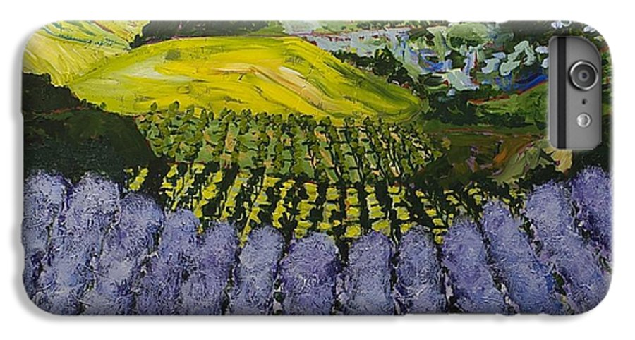 Landscape IPhone 6 Plus Case featuring the painting Heavenly Valley by Allan P Friedlander