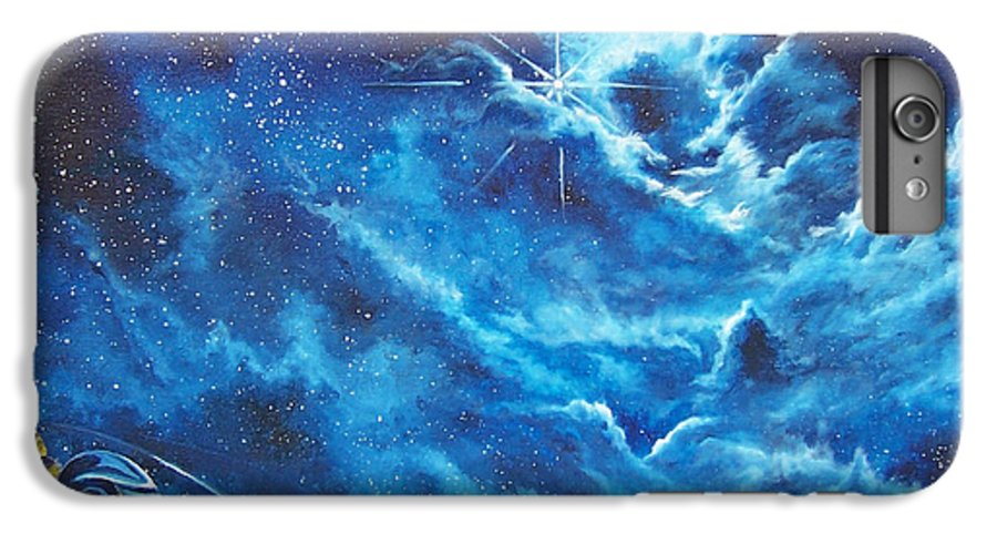 Astro IPhone 6 Plus Case featuring the painting Heavens Gate by Murphy Elliott