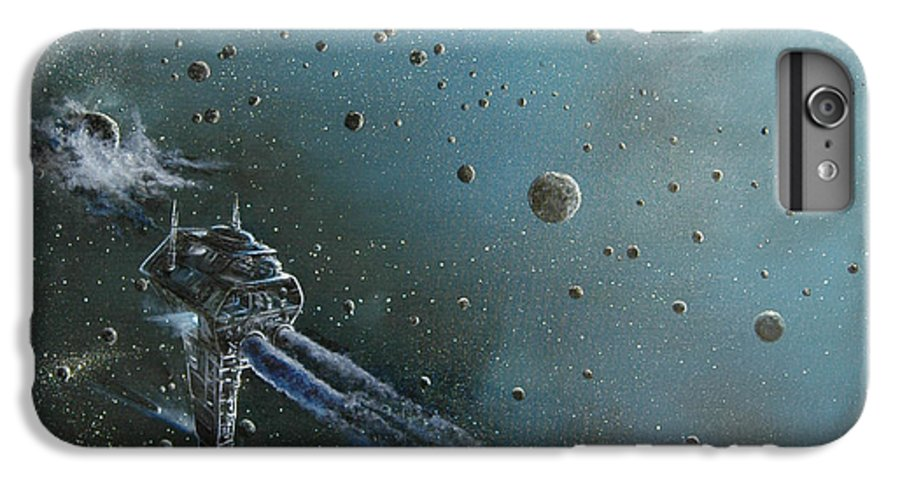 Astro IPhone 6 Plus Case featuring the painting Hiding In The Field by Murphy Elliott