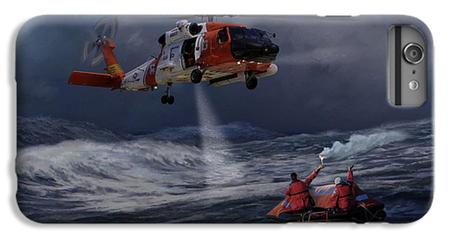 Aviation IPhone 6 Plus Case featuring the painting High Magnitude Of Bravery by Mark Karvon