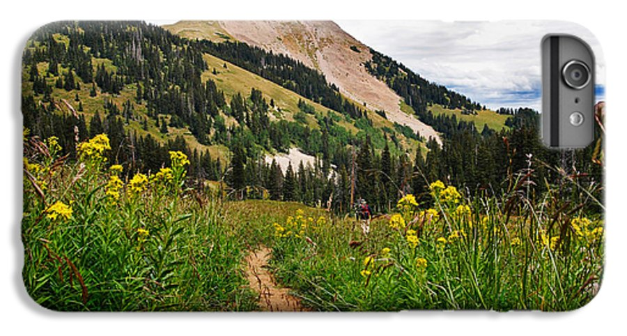 3scape Photos IPhone 6 Plus Case featuring the photograph Hiking In La Sal by Adam Romanowicz