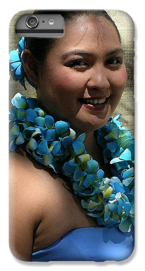 Hawaii Iphone Cases IPhone 6 Plus Case featuring the photograph Hula Blue by James Temple