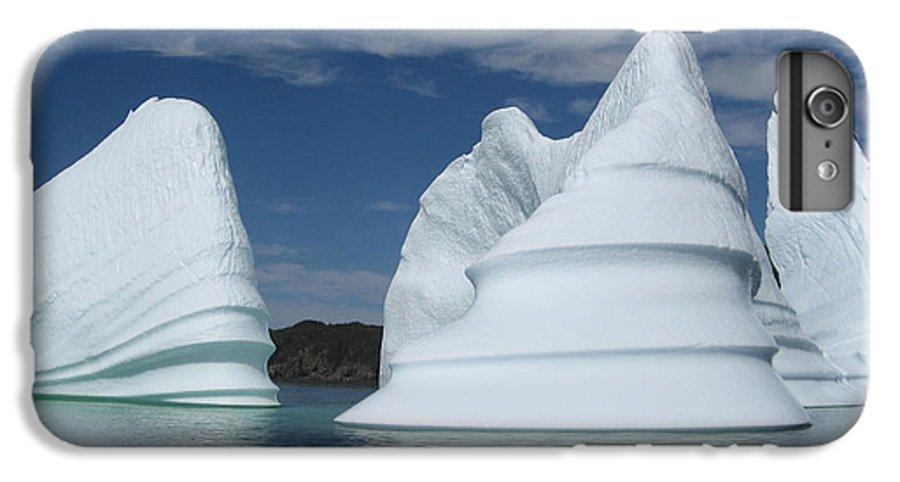 Iceberg Newfoundland IPhone 6 Plus Case featuring the photograph Icebergs by Seon-Jeong Kim