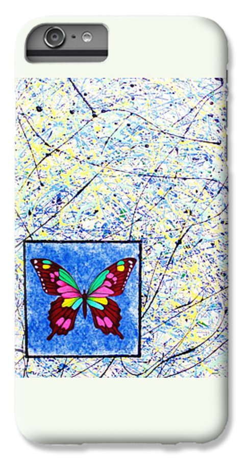 Abstract IPhone 6 Plus Case featuring the painting Imperfect I by Micah Guenther