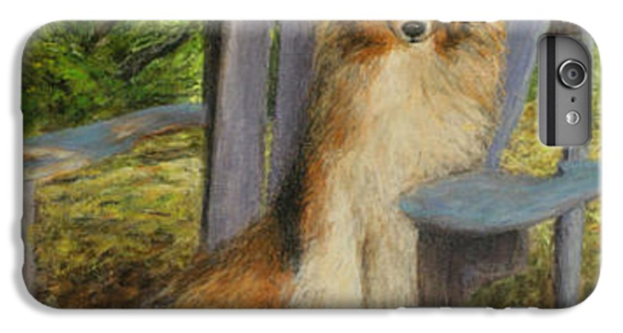 Pets IPhone 6 Plus Case featuring the painting In Memory Of Esha by Chris Neil Smith